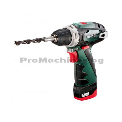 Акумулаторна отвертка 10.8V, 2 x 2.0Ah батерии - METABO Powermaxx BS BASIC
