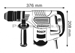 Къртач със SDS plus – Bosch GSH 3 E, 650 W, 0-3.500 удара, 2.6 J, 3.5 кг., 0.611.320.703